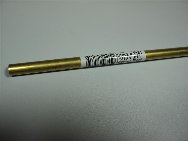 5/16x36 Brass Shaft Tube