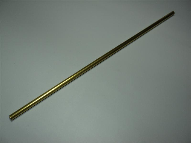 1/4x12 Brass Shaft Tube